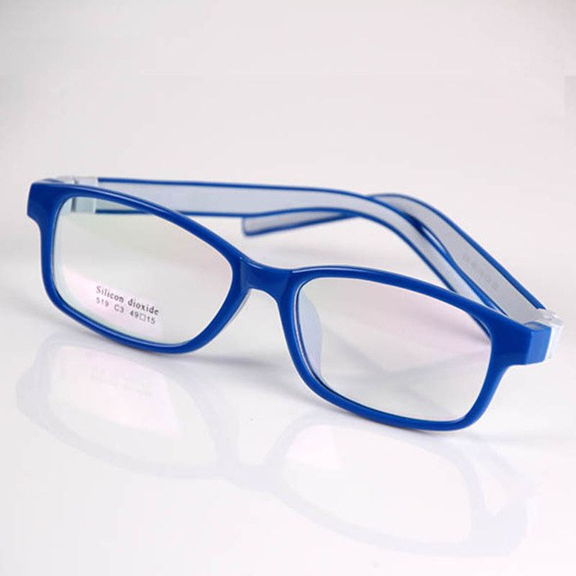Classic Kids Safe Silicone Clear Lens Optical Eyeglasses Frames No Screw Unbreakable Boys Girls Children Size 49-15-130mm 519-novahe
