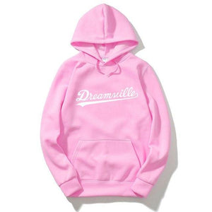 RUMEIAI 2017 Hoodies Men Hip Hop DREAMVILLE Records Hoodies Swag Letter Fleece Men's Hooded Sweatshirt-novahe