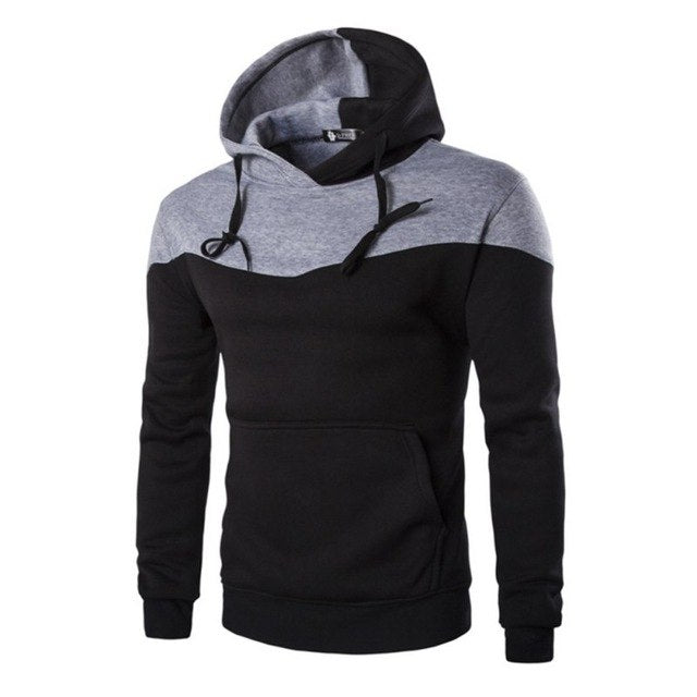 Hoodies Men 4 Color Stitching Hedging Hoodie Sweatshirt Slim Men Hoody-novahe