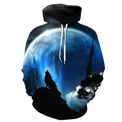 PLstar Cosmos 2017 Fashion Men's 3D Wolf Hooded Sweatshirt unisex harajuku Hooded Sweatshirt 11 models-novahe