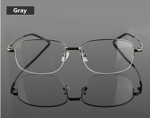 UVLAIK Memory Titanium Eyeglasses Half Alloy Frame Optical Glasses Frame Men Women Retro Half-frame Glasses Prescription Frames-novahe