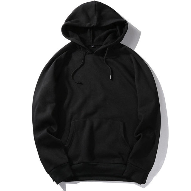 USA SIZE Fashion Color Hooides Men's Thick Clothes Winter Sweatshirts Men Hip Hop Streetwear Solid Fleece Hoody Man Clothing-novahe