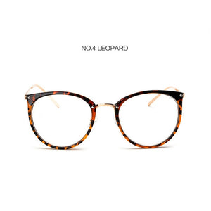 UVLAIK Clear Lens Cat Eye Glasses Frame Women Fashion Oversized Spectacle Frames Transparent Optical Eyeglasses Clear Eyeglass-novahe