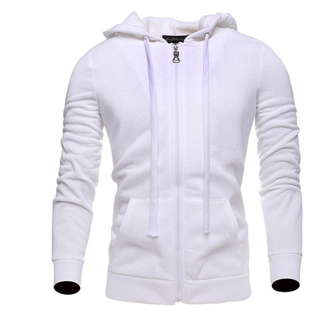 Hoodies Men 2017 Brand Male Long Sleeve Hoodie Solid Lovers Sweatshirt Mens Cardigan Moletom Masculino Hoodies Slim Tracksuit KZ-novahe