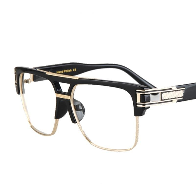 4d28545dee8be Peekaboo Half frame eyeglasses frames men square optical gold black eye  glasses frames for women brand