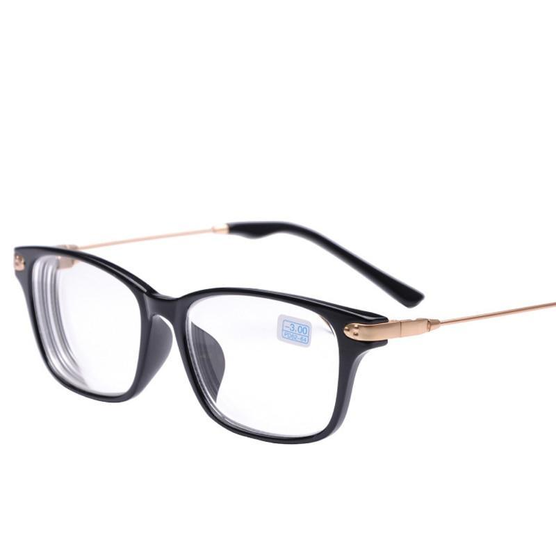 Peekaboo New brand high quality cheap prescription eyeglasses men student -2 -1.5 discount myopia glasses women minus black-novahe