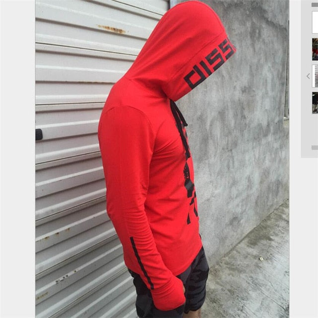 YEMEKE Autumn Mens Casual Hoodies Black Red Pullover Man's Brand Clothing Male Wear Slim Hooded Clothes Tracksuits Tops-novahe