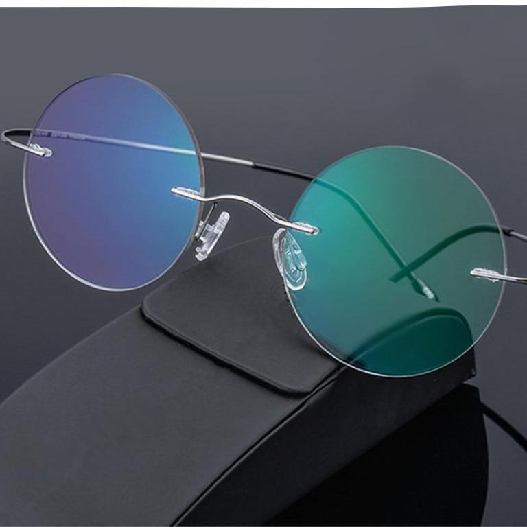 dedc32a81e84 Steve Jobs Star Style Ultra-light Memory Rimless Titanium Myopia Eyeglasses  Frame Optical Glasses Men