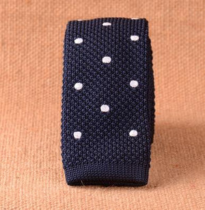 Knitted Ties 6cm Wide Slim Necktie for Men 2017 New Fashion Designer Flat Knit Skinny Christmas Dot Striped Handmade Narrow Tie-novahe