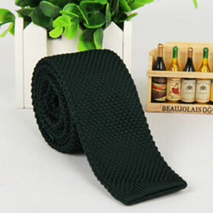 New Arrival Men's Fashion Solid Tie Knit Knitted Tie Plain Necktie Narrow Slim Skinny Woven For Hot Sale-novahe