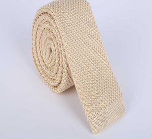 Fashion Men Ties Solid Color Male Slim Knitted Ties Neck Ties Cravate Narrow Skinny Neckties-novahe