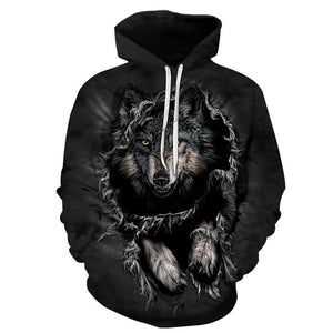 Mountain Wolf Hoodies 3D Men Hoodie Brand Sweatshirt Hooded Pullover Cool Animal Print Tracksuits Unisex 6XL Outwear Boy Coats-novahe