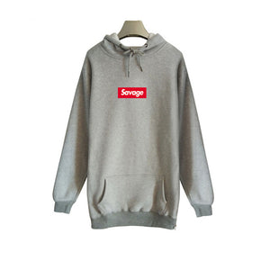 High Quality 1:1 Savage Hoodies Men Parody No Heart X 21 Savage Hooded Sweatshirt Suprem With Side Zipper Cotton Long Sleeves-novahe