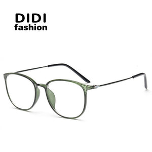 DIDI Leopard TR90 Titanium Eyeglasses Thin Frame Women Men Clear Lens Myopia optical glasses Spectacle Frames Oculos De Sol U569-novahe
