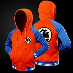 Cartoon Dragon Ball Z Goku Hoodie Sweatshirt Men Casual Slim Fit Zipper Hoodies Sweatshirts Men Hooded Baseball Jacket Overcoat-novahe