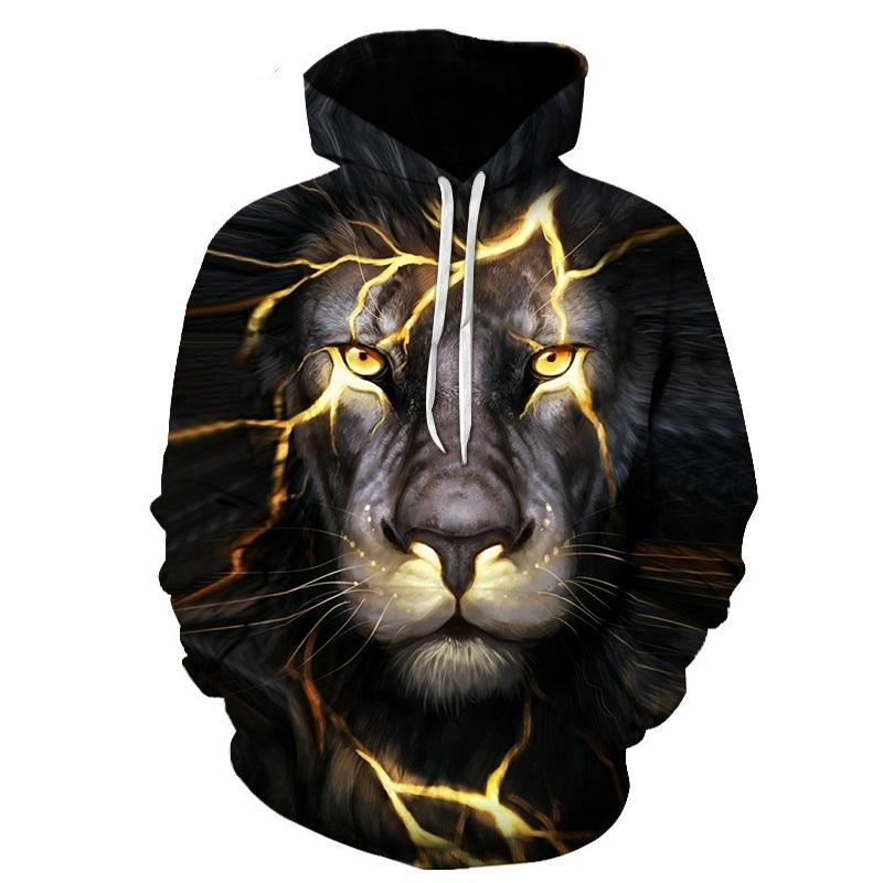 BIANYILONG New Fashion Men/Women 3d Sweatshirts Print Paisley Lightning Lion Hoodies Autumn Winter Thin Hooded Pullovers Tops-novahe