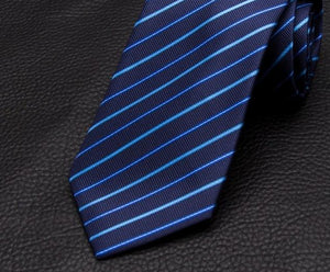 XGVOKH 1200 Needles Neckties Striped Ties For Men 8cm Width Classic Mens Corbatas Gravata Business Party Neckwear Polyester Tie-novahe