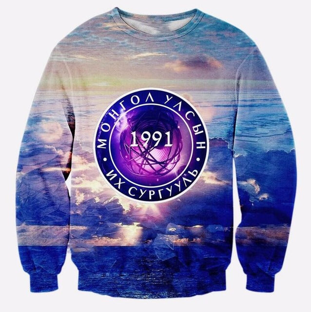 Cloudstyle Top Fashion Selling 3d Sweatshirt Man Casual Full Sleeve Sweatshirts Funny Print Sportwear Plus Size 5XL-novahe