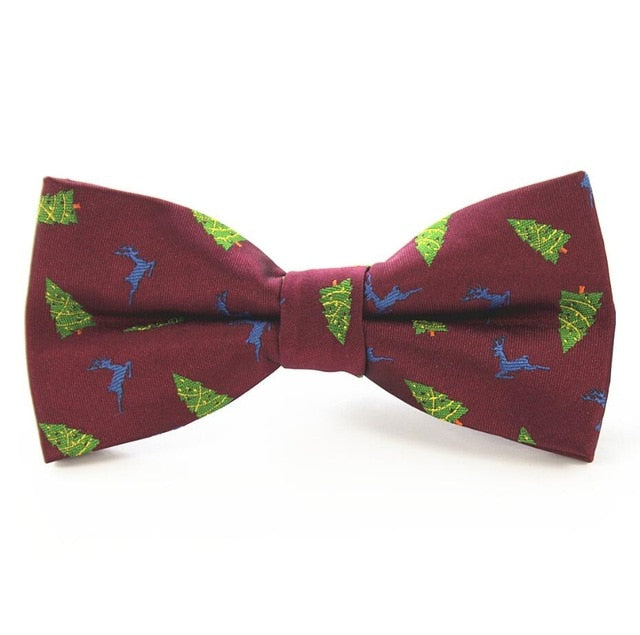 RBOCOTT New Christmas Bow Tie Men's Green Christmas Tree Bowtie Black Bow Ties For Men Wedding Accessories Christmas Gifts-novahe