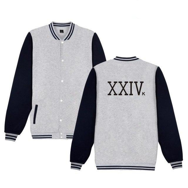 Singer-SongWriter Bruno Mars XXIVK Magic Bruno Mars Jacket Fashion Casual Bruno Mars 24K Magic Baseball Uniform-novahe