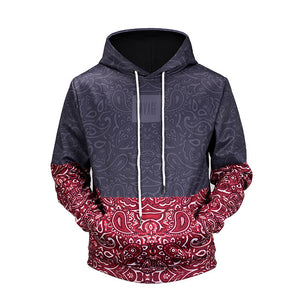 Mr.BaoLong new 2018 high quality Floral Stitching 3D printed men's hooded hoodies funny design drawstring hoodies man H64-novahe