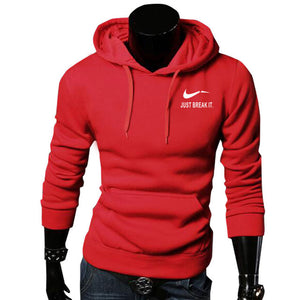 2017 Autumn New Arrival High JUST BREAK IT Printed Sportswear Men Sweatshirt Hip-Hop Male Hooded Hoodies Pullover Hoody clothing-novahe