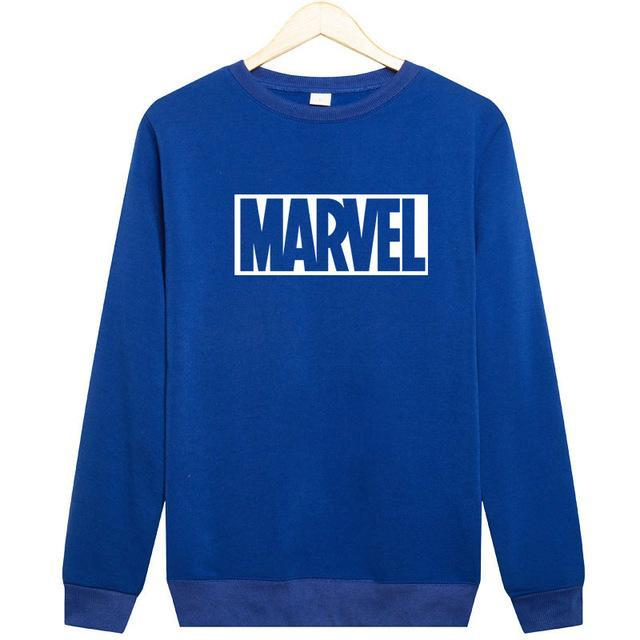 2017 New Marvel Letter Print letter Sweatshirt Men Hoodies Fashion Solid Hoody Men Pullover Men's Tracksuits male coats-novahe
