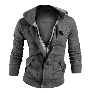 Men's Fashion Winter Slim Hoodie Warm Hooded Sweatshirt Coat Jacket Outwear-novahe