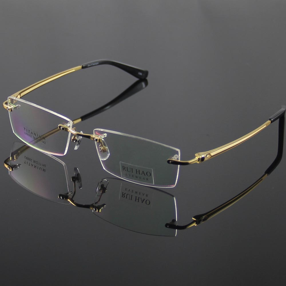 bde6ee22f5d Unisex Eyeglasses Frame Fashion Eyeglasses Men Rimless Titanium Glasses  Women Optical Spectacles Eyewear Frames oculos of