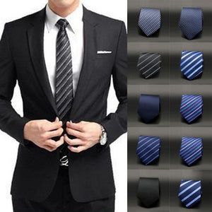 New Men Slim Necktie Classic Jacquard Woven Plain Skinny Silk Tie For Formal Wedding Party-novahe