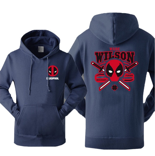 Superman Wade Wilson Deadpool Hoodies Men 2017 Autumn Winter Warm Fleece Men's Sweatshirts Hoodies Slim Fit Hip Hop Sportswear-novahe