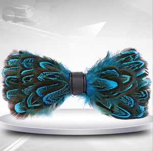 Fashion 1pcs Party Necktie 2017 Peacock Feather Bow Tie For Man High Quality Men's Tuxedo Dress Vintage Bowtie-novahe