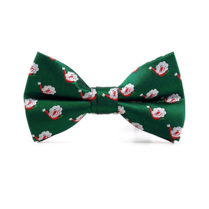 Men Christmas Holiday Bow Tie Pre-tie Adjustable Length Christmas Tree Snowflake-novahe