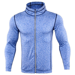 Fashion Men Hoodies Compression Hoody Crossfit Sweatshirts Mens Quick-drying Jersey Male Breathable Exercise Hooded Jacket Coat-novahe