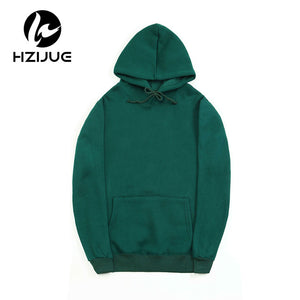 Fashion Color Hooides Men's Thick Clothes Winter Sweatshirts Men Hip Hop Streetwear Solid Fleece Hoody Man Clothing USA SIZE-novahe