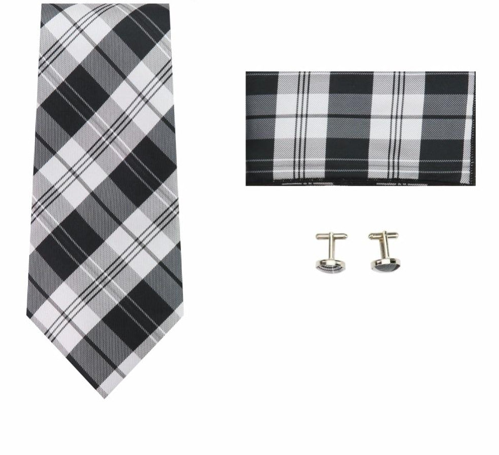 1148eb2f3869 Mantieqingway 20 Colors Tie Hanky Cufflinks Sets for Men Polyester Paisley  Floral Neck Tie for Mens