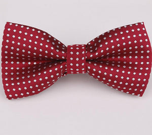Mantieqingway Brand Dot & Solid Ties Bowtie Polyester Men's Bow Tie Business Shirts Bowknot Bow Ties Cravats for Children Gift-novahe