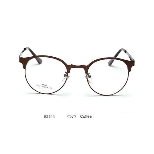 Brand Optical Eyeglasses Frame Women's Myopia Prescription Eyewear Designer Metal Eye Glasses Frames for Women-novahe