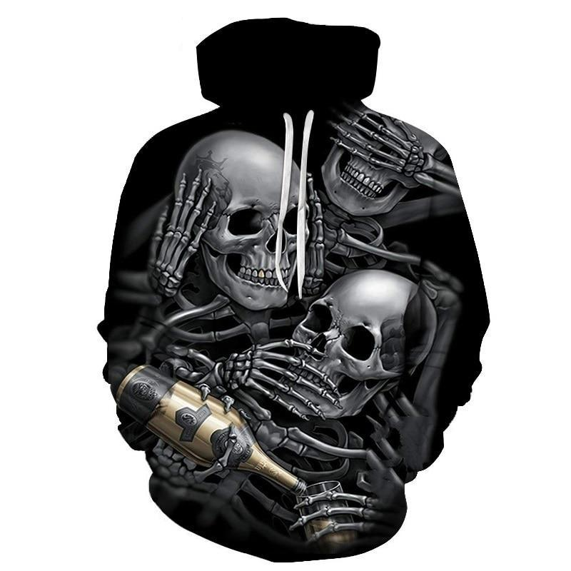 BIANYILONG New Fashion Men/Women 3d Hoodies Skulls Champagne Print Hooded Hoodies Thin 3d Sweatshirts Hoody Autumn WintTops-novahe