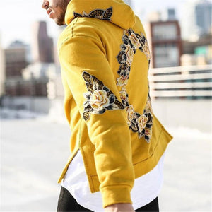 Huation 2018 Tracksuit Men off White Hooded Hoodies Mens Streetwear Sweatshirt Hip Hop Embroidery Pullover Fleece Hoodie moleton-novahe