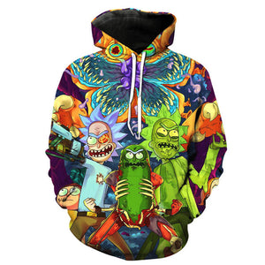 3D Rick And Morty Hoodies Sweatshirt Men Women 2017 Funny Cartoon Rick Print Hoodie Sweatshirt Mens Harajuku Hip Hop Streetwear-novahe