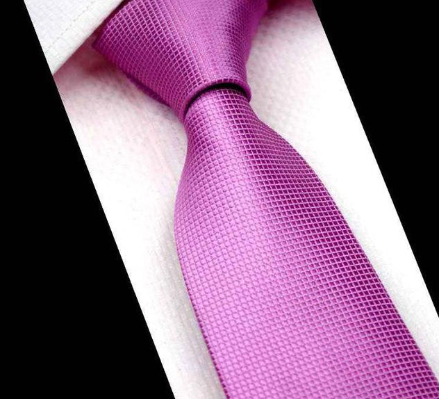 CityRaider Brand 7cm Skinny Solid Pink Neck Ties For Men Wedding Tie 2016 New Cravate Mens Slim Polyester Neckties Gravata CR023-novahe