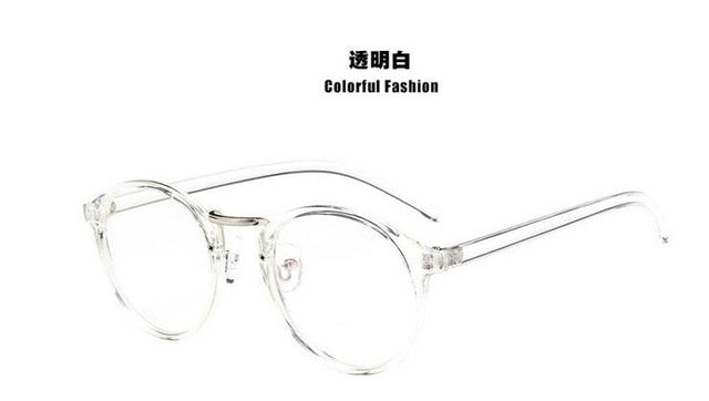 Anewish Fashion Retro Round Eyeglasses Frame Men Women Optical Myopia Glasses Frame Computer Eyeware 2018-novahe