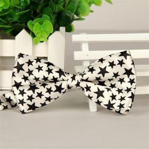 Men Bow Tie Stars Print Cotton Bowties Tuxedo Wedding Party Ties Male Cravat Necktie Boy Gravata Formal Bowknot Neckwear May26-novahe