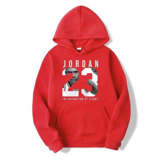WZZAE Autumn 2018 New Women/Men's Casual Players JORDAN 23 Print Hedging Hooded Fleece Sweatshirt Hoodies Pullover Size S-XXXL-novahe