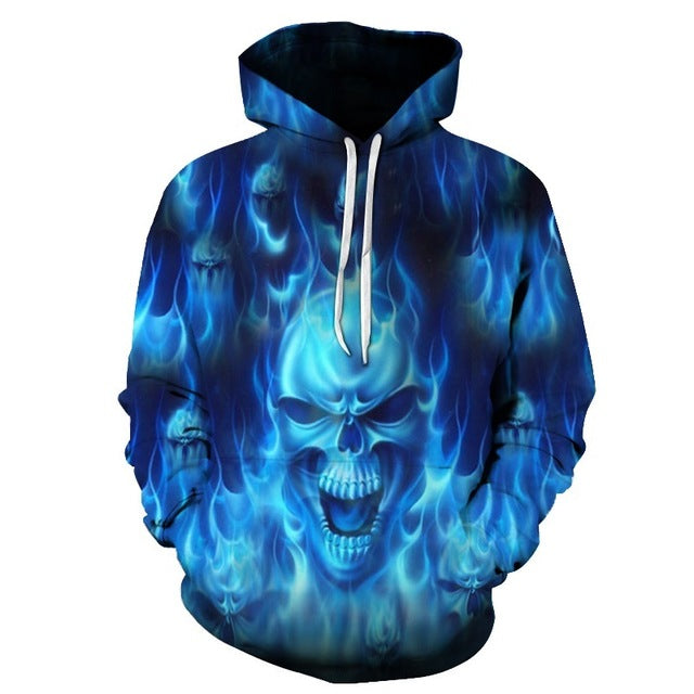 ZOOTOP BEAR New design skull poker print Men/Women Hoodies Funny 3D Sweatshirts Autumn Winter Pullover Hooded Tracksuits Fashion-novahe