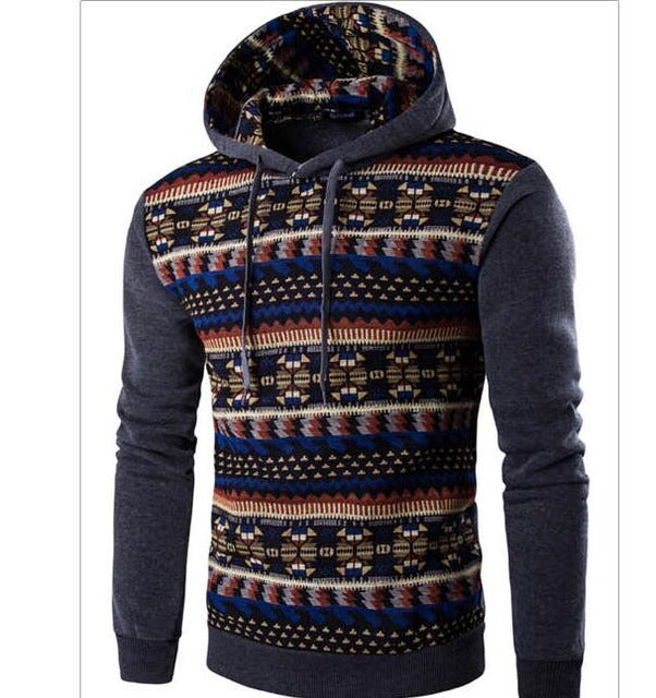 2018 Hoodies Mens Hombre Hip Hop Male Brand Hoodie Fashion Geometric Print Sweatshirt Men Slim Fit Men Hoody XXL EYRV-novahe