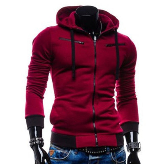 LeeLion 2018 New Zipper Cardigan Hoodies Men Hooded Fleece Sweatshirt Fashion Casual Solid Sportswear Slim Men's Hoody Tracksuit-novahe