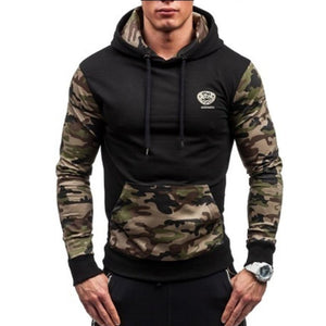 Brand 2018 Hoodie Splicing Camouflage Hoodies Men Fashion Tracksuit Male Sweatshirt Hoody Mens Purpose Tour Hoodie XXL-novahe