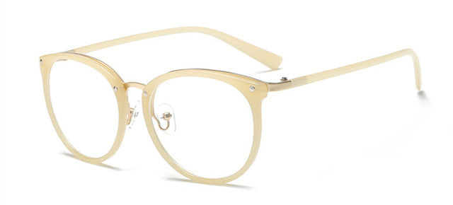 transparente eyeglasses brand designer New fashion gold glasses frames men women eyewear vintage clear lens Armacao De Oculos-novahe